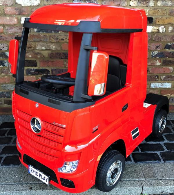 Licensed Mercedes Benz Actros 12v Ride On Lorry Artic Truck - Red-0