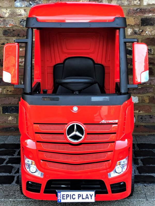Licensed Mercedes Benz Actros 12v Ride On Lorry Artic Truck - Red-17335