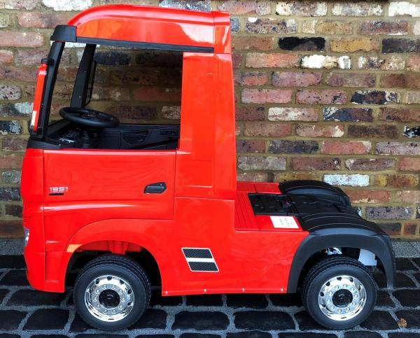 Licensed Mercedes Benz Actros 12v Ride On Lorry Artic Truck - Red-17341