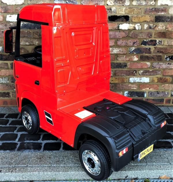 Licensed Mercedes Benz Actros 12v Ride On Lorry Artic Truck - Red-17338