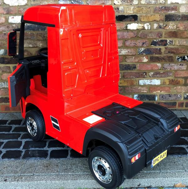 Licensed Mercedes Benz Actros 12v Ride On Lorry Artic Truck - Red-17339