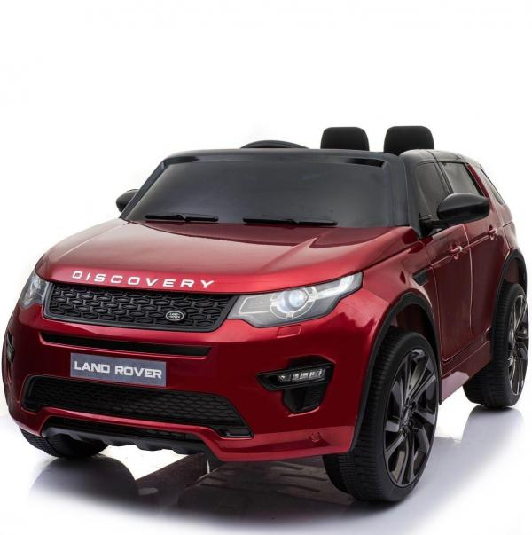 Licensed Kids Land Rover Range Rover Discovery HSE Sport 12v Electric Ride on Car - Metallic Red-16697