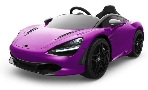 Kids Licensed McLaren 720S Spider 12V Battery Powered Kids Electric Ride On Car Metallic Lantana Purple-0