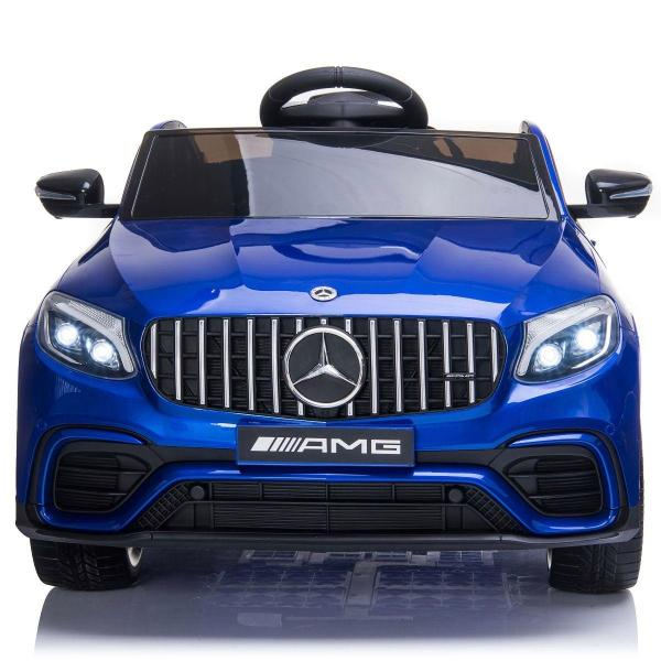 Licensed Mercedes Benz AMG GLC 63S 12V Battery Electric Ride on Car Blue-17333