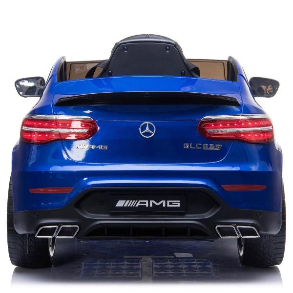 Licensed Mercedes Benz AMG GLC 63S 12V Battery Electric Ride on Car Blue-17330
