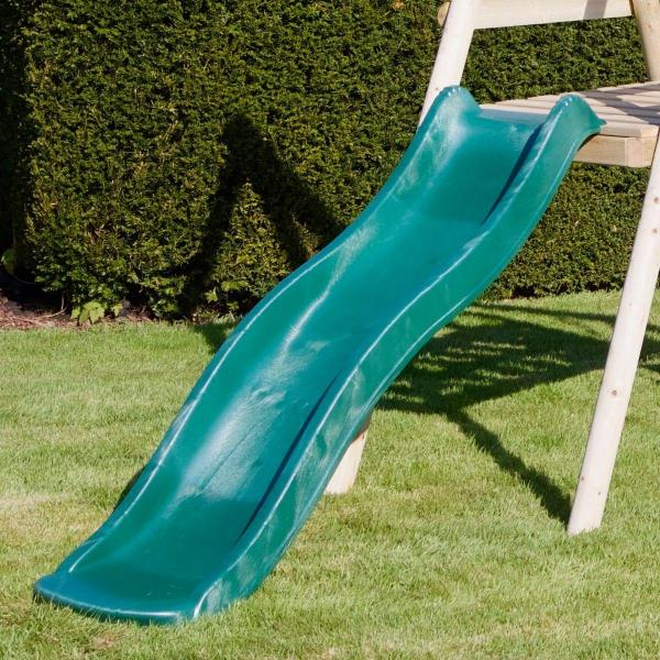 Rebo Apollo Wooden Swing Set with Platform and Slide-18649