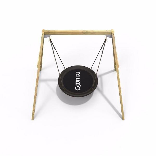 Rebo Active Range Wooden Garden Nest Swing Set-18622