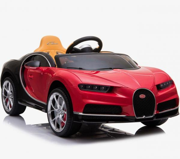 Licensed Bugatti Chiron 12V Battery Ride on Car - Red
