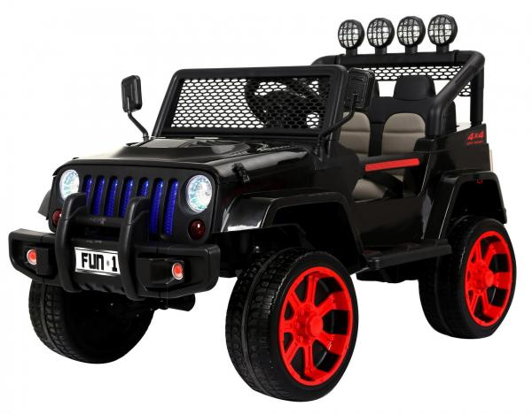 Wrangler Jeep 4x4 style ride on car front side view