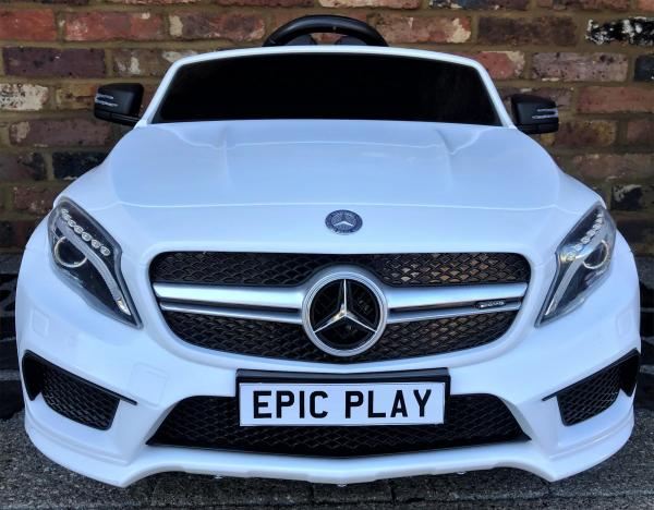 Licensed Mercedes Benz AMG GLA 45 12V Kids Battery Ride on Car with Remote Control - White