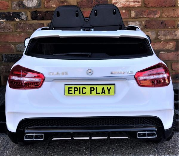 Licensed Mercedes Benz AMG GLA 45 12V Kids Electric Ride on Car with Remote Control - White