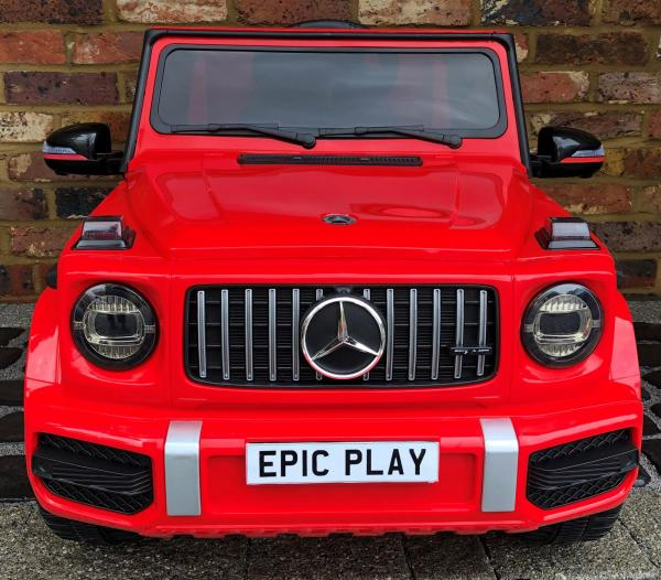 Licensed Mercedes Benz Kids Ride On Car in Red front view