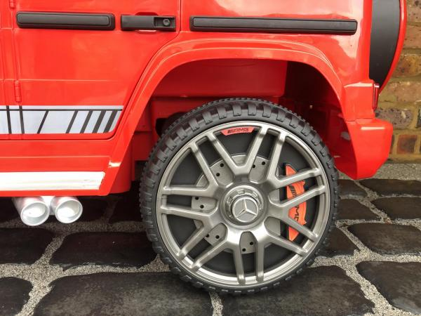 Licensed Mercedes Benz AMG G63 G Wagon 12V Ride On Car Jeep Red Wheel