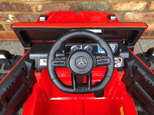 Licensed Mercedes Benz AMG G63 G Wagon 12V Ride On Car Jeep Red Steering Wheel