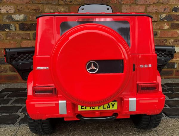 Licensed Mercedes Benz Kids Ride On Car in Red rear view