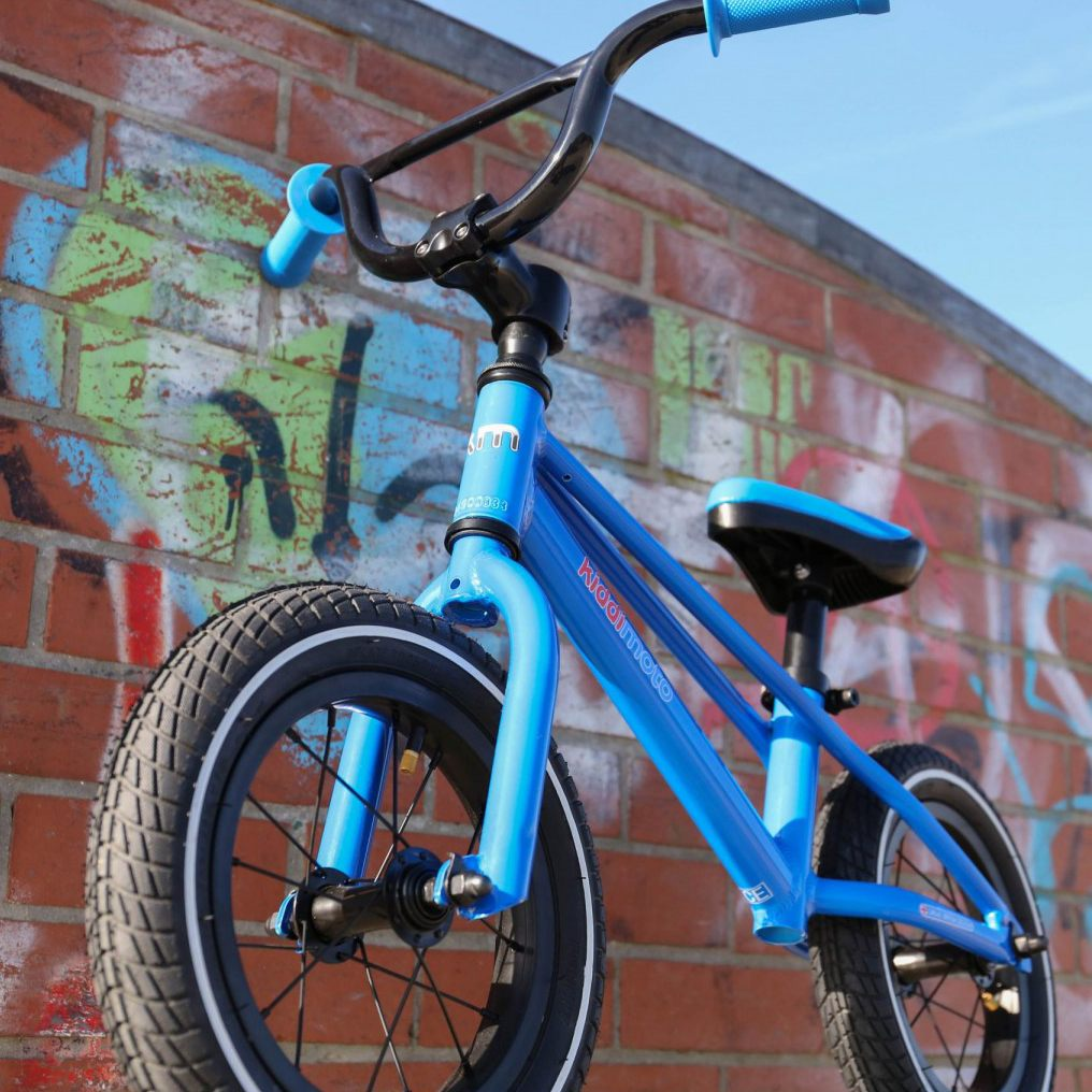 kiddimoto balance bike blue