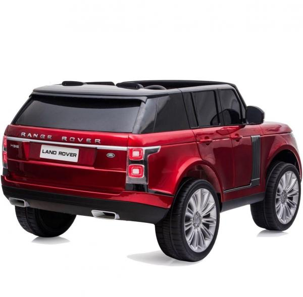 Licensed 24v Battery Range Rover Vogue HSE Sport 4WD 2 Seater Kids Ride On Jeep - Red Rear View
