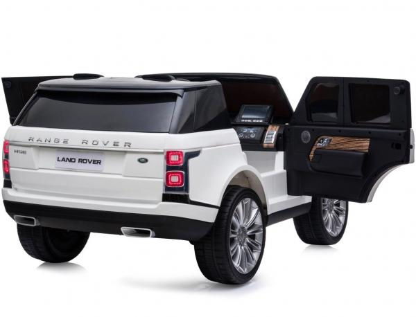 Licensed 24v Range Rover Vogue HSE Sport 4WD 2 Seater Ride On Jeep - White Opening Doors