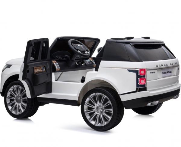 Licensed 24v Range Rover Vogue HSE Sport 4WD 2 Seater Ride On Jeep - White Doors