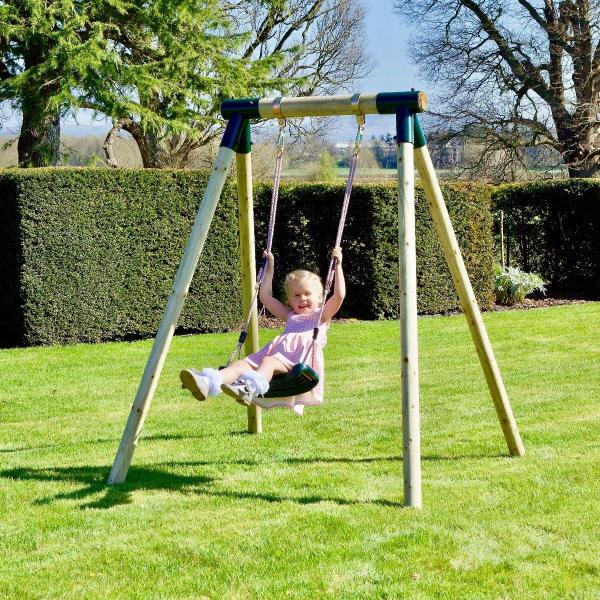 Rebo Junior Range Wooden Garden Swing Set - Junior Solar-18686