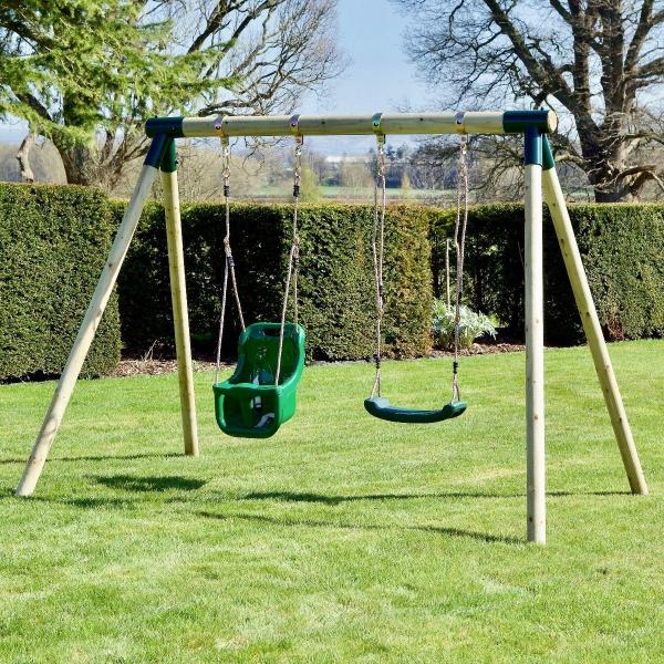 Rebo Junior Range Wooden Garden Swing Set - Junior Luna-18741