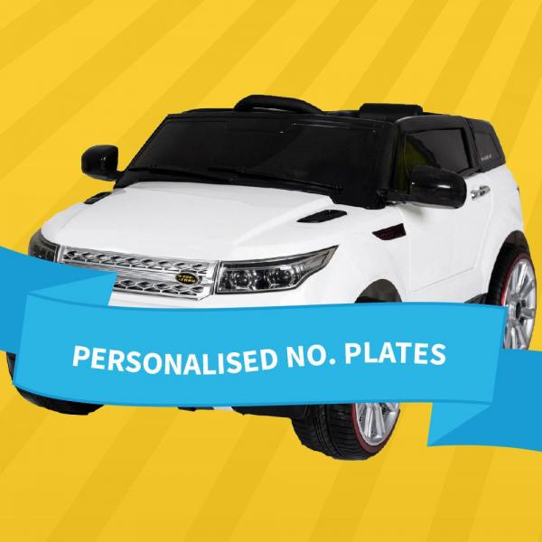 Personalise Ride on Car Number Plate