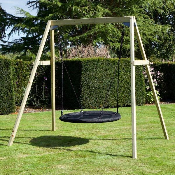 Rebo Active Range Wooden Garden Nest Swing Set-18615