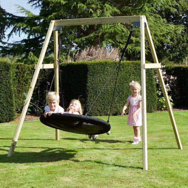 Rebo Active Range Wooden Garden Nest Swing Set-18618