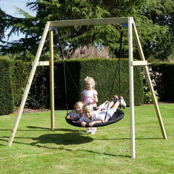 Rebo Active Range Wooden Garden Nest Swing Set-18624