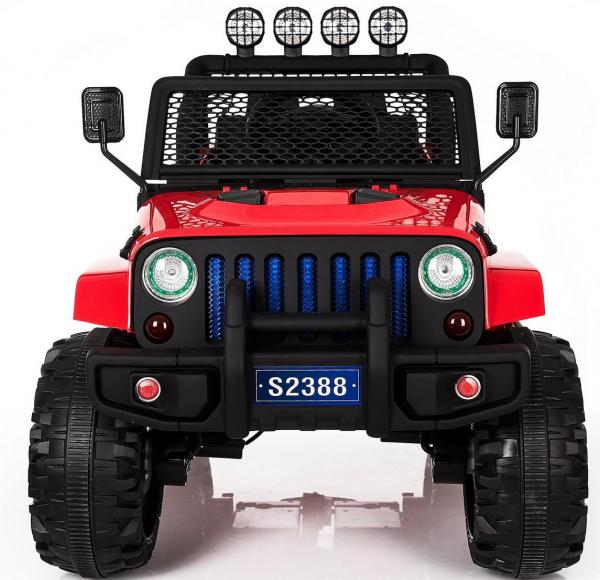 Wrangler Jeep 4x4 style ride on car red - front