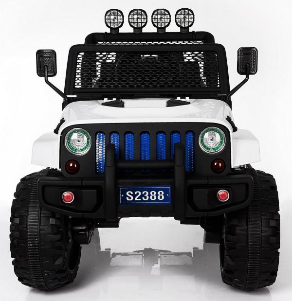 Kids electric cars - Wrangler 4WD white - front