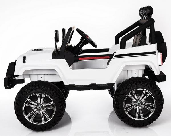 Kids electric cars - Wrangler 4WD white - side view
