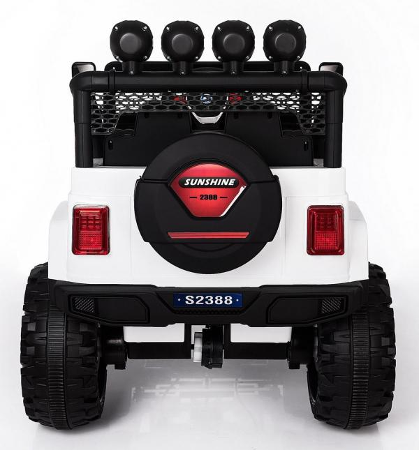 Kids electric cars - Wrangler 4WD white - rear view