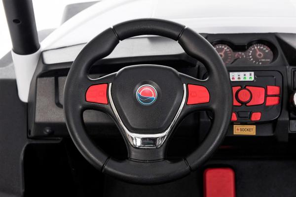 Renegade Maverick ride on Car - White steering wheel
