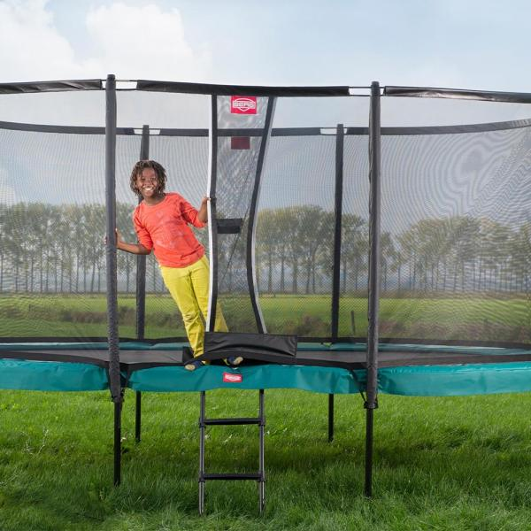 "BERG Grand Champion Oval Trampoline - Safety Net Deluxe - 350*250cm / 11ft 6"" x 8ft 2"" - Green-18908"