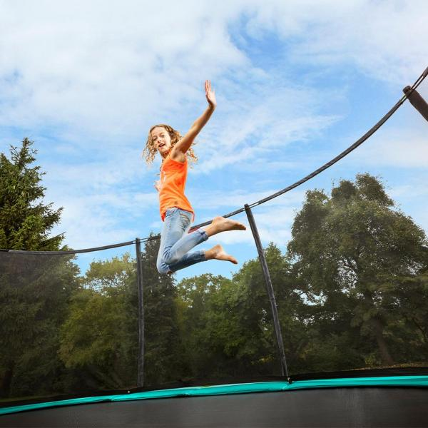 "BERG Grand Champion Oval Trampoline - Safety Net Deluxe - 350*250cm / 11ft 6"" x 8ft 2"" - Green-18906"