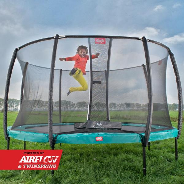 BERG Champion Regular Round Trampoline - Safety Net Deluxe - 430cm / 14.1ft - Green-18861