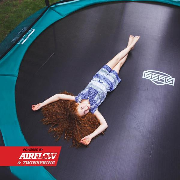 BERG Champion Regular Round Trampoline - Safety Net Deluxe - 430cm / 14.1ft - Green-18862