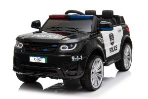 Kids Police Range Rover style SUV 4x4 off road 12v Electric Jeep - BlackKids Police Range Rover style SUV 4x4 off road 12v Electric Jeep - Black-0