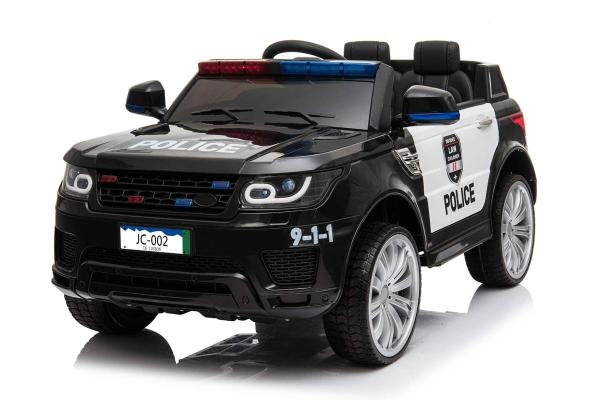 Kids Police Range Rover style SUV 4x4 off road 12v Electric Jeep - Black-0