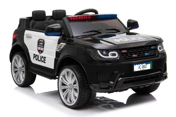 Kids Police Range Rover style SUV 4x4 off road 12v Electric Jeep - Black-19130
