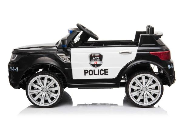 Kids Police Range Rover style SUV 4x4 off road 12v Electric Jeep - Black-19128