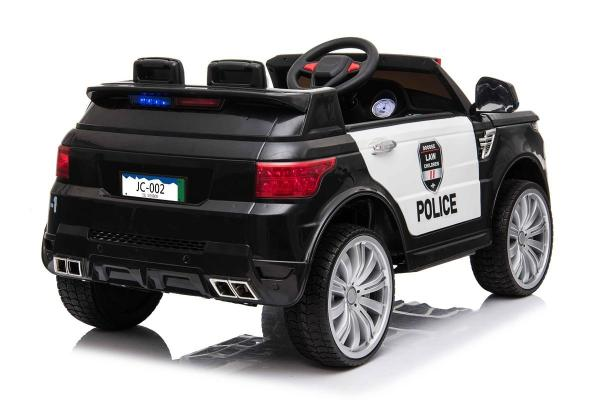 Kids Police Range Rover style SUV 4x4 off road 12v Electric Jeep - Black-19132