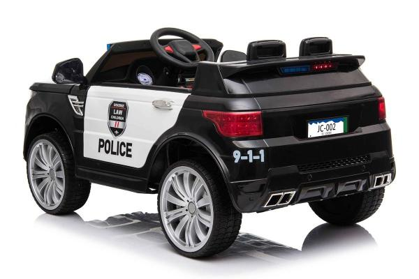 Kids Police Range Rover style SUV 4x4 off road 12v Electric Jeep - Black-19127