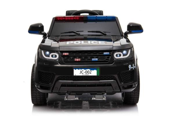 Kids Police Range Rover style SUV 4x4 off road 12v Electric Jeep - Black-19126