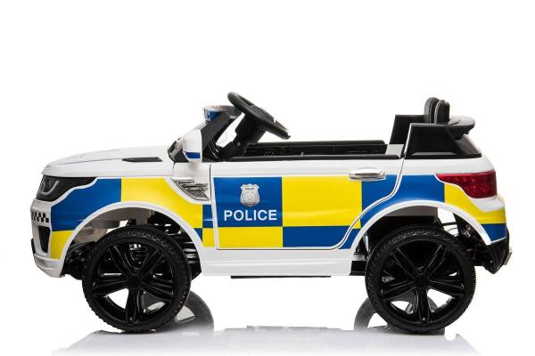 Kids Police Range Rover style SUV 4x4 off road 12v Electric Jeep - White-19108