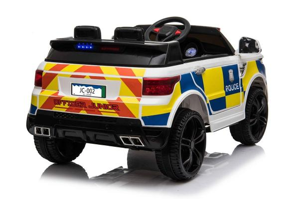 Kids Police Range Rover style SUV 4x4 off road 12v Electric Jeep - White-19111
