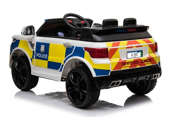 Kids Police Range Rover style SUV 4x4 off road 12v Electric Jeep - White-19112