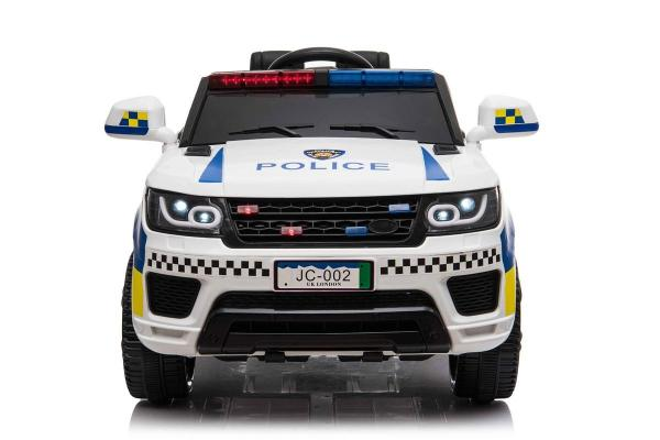 Kids Police Range Rover style SUV 4x4 off road 12v Electric Jeep - White-19110