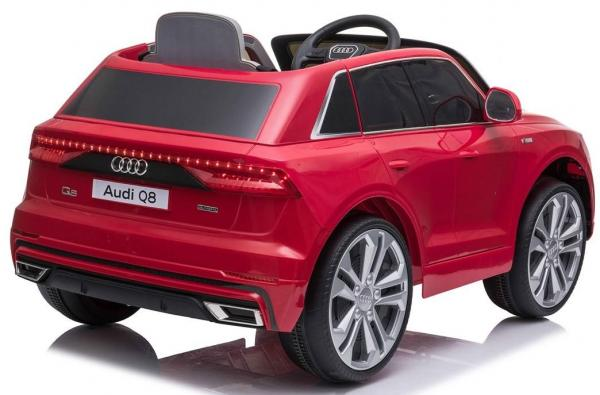 Licensed Audi Q8 SUV 12v Battery / Electric Ride on Car Red-19091